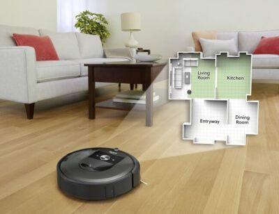 Robot aspirador con sistema navegación con mapeo